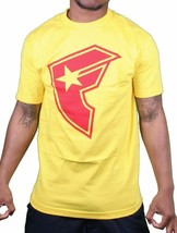Famous Stars & Straps Mens Yellow Heavy Weight Red BOH T-Shirt Small NWT