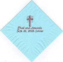 CROSS LOGO 50 Personalized printed LUNCHEON DINNER napkins - $11.87+