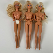Vintage Barbie Dolls Lot of Three Blonde Hair 1976 NO Clothes  - $22.99