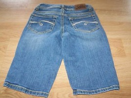 Girls Size 10 S Slim Justice Denim Blue Jean Bermuda Shorts Simply Low EUC - $16.00