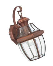 Quoizel Newbury 14-in H Aged Copper Medium Base (E-26) Outdoor Wall Light - $74.93