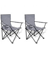 Folding Camping Chairs Set Outdoor Garden Fishi... - £31.59 GBP