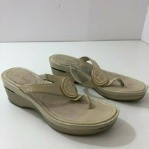 COLE HAAN NikeAir Beige/Gold Sandals Womens Size 8 B - $31.16