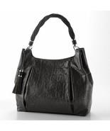 Dana Buchman Carla Faux Crocodile Black Hobo Purse Handbag - $49.99