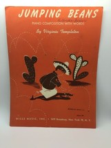 Jumping Beans Piano Composition with Words Sheet Music 1946 - $8.56