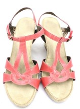 Women's A2 Aerosoles Wedge Sandals - Double Plush  - Coral - EUC 9M Hard To Find - $37.75