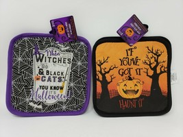 Greenbrier Holiday Halloween Kitchen 2 Pack Pot Holders - New - $9.99
