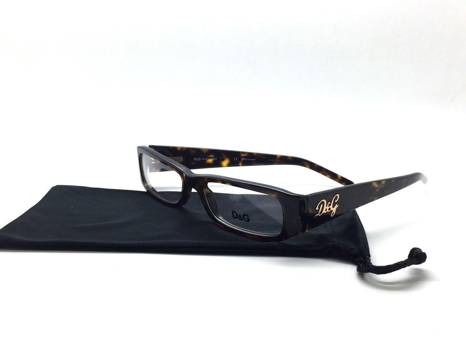 74d680349bb Dolce   Gabbana Tortue Lunettes de Vue D g 1135 Marron 502 Authentique  51-16-135