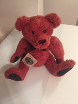 "Boyd's Bears Plush Teddy Bear Red Fur. Carl. Posable Arms Legs. 14"". Black Paws - $19.24"
