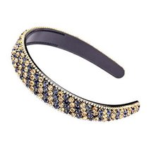 Beaded Hair Hoop Wide Hairband Hair Accessory Bling Bling Rhinestone Headband