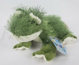 "Ganz Webkinz Frog 8"" Plush Fuzzy Long Hair Green Stuffed Animal SEALED CODE - $16.93"