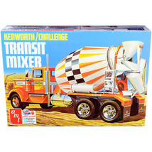 Skill 3 Model Kit Kenworth / Challenge Transit Cement Mixer Truck 1/25 S... - $87.19