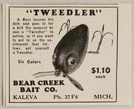 1949 Print Ad Tweedler Bass Fishing Lures Bear Creek Bait Kaleva,MI - $8.61