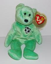Ty Beanie Baby Kicks Plush 9in Soccer Teddy Bear Stuffed Animal Retired ... - $5.99