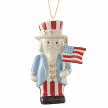 Lenox 2017 Nutcracker Figurine Ornament Annual Patriotic Uncle Sam Chris... - $49.50