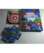 Australia Marvel Super Heroes 37/42 in Collectors Album & 15 Sealed Pack... - $96.74