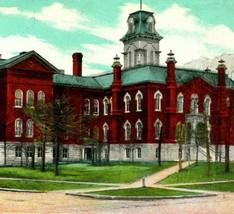 Vtg Cartolina 1907 Udb Teich Streater Illinois Il Alto Scuola Curt Teich - $27.83