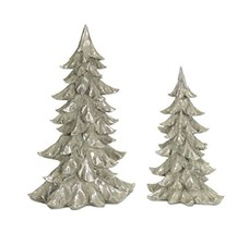 Melrose 72652 Tree Set of 2, 15.75-inches Height and 20.25-inches Height, Poly S