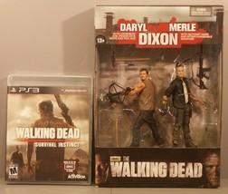 The Walking Dead Survival Instinct PS3 2013 NEW McFARLANE Daryl & Merle Dixon - $99.95