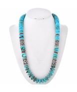 Navajo Arizona KINGMAN TURQUOISE Sterling Treasure Necklace Tommy Singer... - $579.00