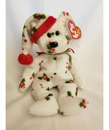 1998 Ty Original Beanie Babies HOLIDAY TEDDY Holly Bear w/Tags - $2.92