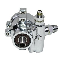 SBC Chevy 376 427 GM Type II Saginaw TC Series Power Steering Pump Chrome