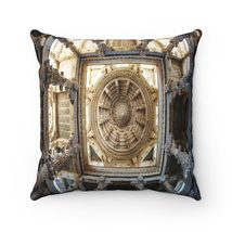 Spun Polyester Square Pillow - Sacred Tantric Temples of Ancient India - $28.00+