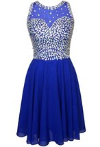 Short Beaded Chiffon Homecoming Dresses Short for Cocktail Prom Party Go... - $132.00