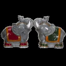 Raja Elephants Ceramic Salt and Pepper Shakers Set - $14.84