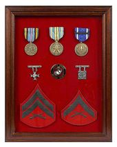 MEDAL-RIBBON-INSIGNIA Display Case Red 12 X 16 - $89.95