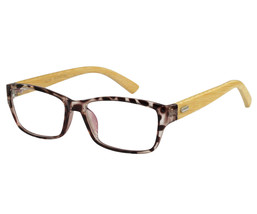 EBE Mens Womens Reading Glasses Retro Style In Brown Tortoise Bamboo temples - $22.98+