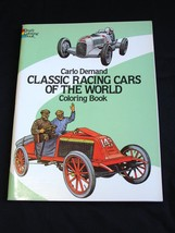Carlo Demand Classic racing Cars of the world Coloring Colouring Book 1982 - $9.79