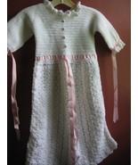 Crochet Baptism/Christening girl's dress hand made - $15.00