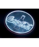 "Coca Cola Glass Coke Bottle 18"" Round Metal LED Neon Bar Pub Man Cave Li... - $84.13"