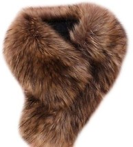 Tuesdays2 Women's Faux Fur Scarf Scarves Collar Shawl Wraps Stole Hood ... - $25.90