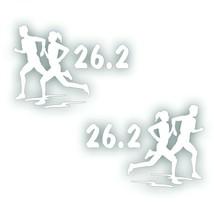 Marathon 26.2 COUPLE man boy woman girl decal PAIR for Olympic mile runn... - $8.83