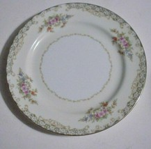 "NORITAKE CHINA Salad Plates Floral Excellent ""M"" in Wreath - $14.80"