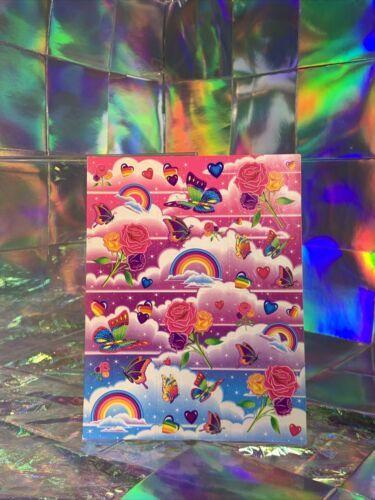 SALE⚡️S282  Lisa Frank Rainbows Roses Butterflies Sticker Sheet Full