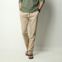 Men's Comfort Linen Casual Loose Pants image 3