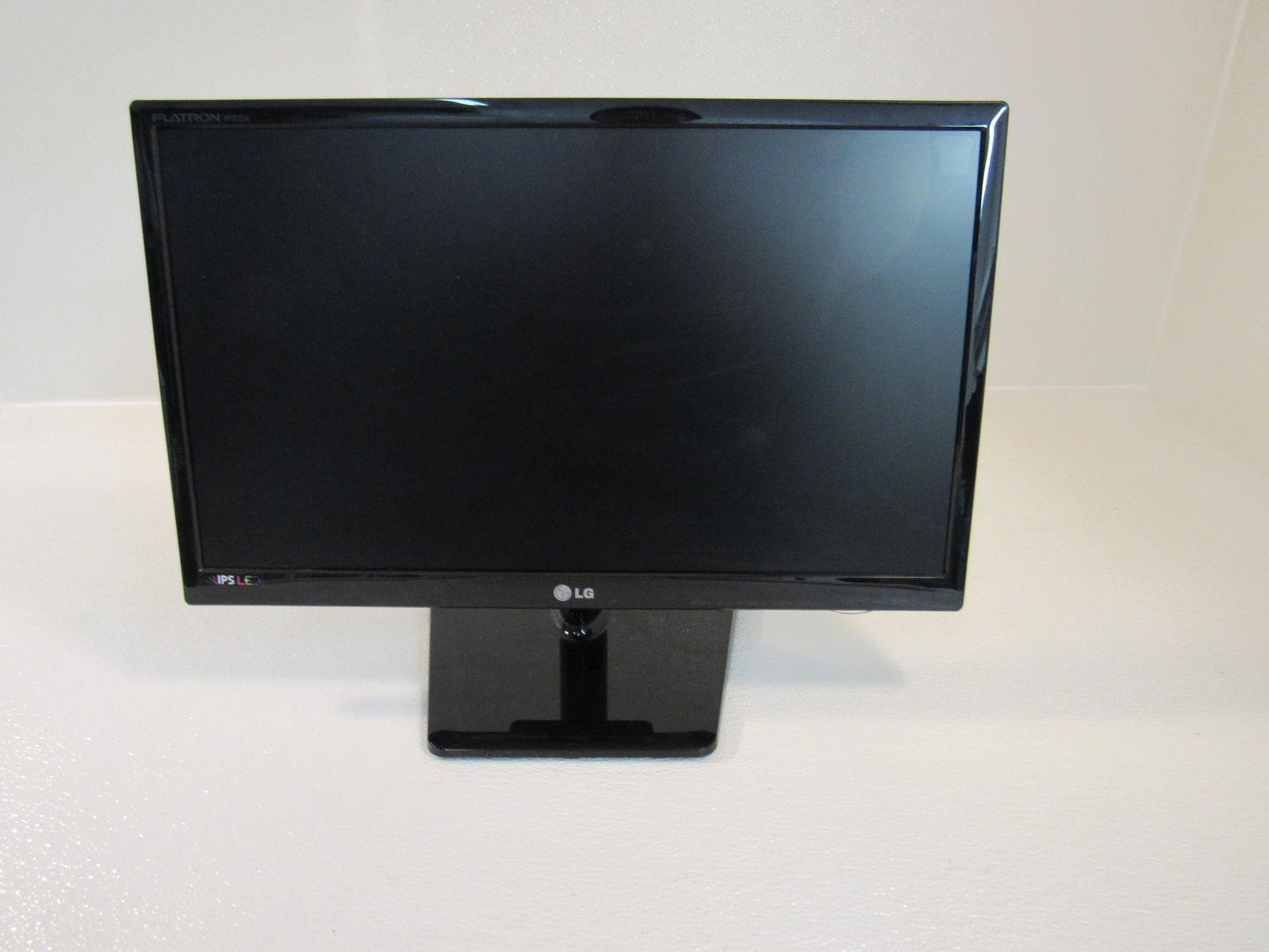 LG Flatron Flat Screen Computer Monitor Black 22in Backlit LED IPS224VA