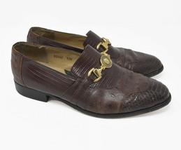 Giorgio Brutini Men's Sz 9.5M Brown Genuine Snake Leather Vero Cuoio Loa... - $34.95