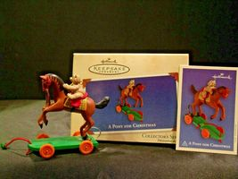 Hallmark Handcrafted Ornaments Toymaker Santa and a Pony for Christmas AA-191779 image 8
