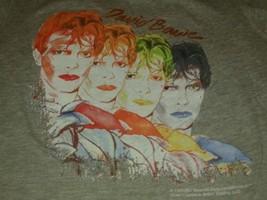 David Bowie Multicolored Faces Cool Rock T Shirt Sz S Women's - $49.49