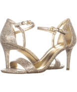 MICHAEL Michael Kors Simone Dress Sandals Silver/Sand Size 6 - $84.14