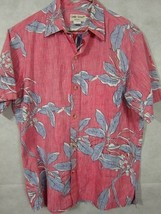 Classic Cooke Street Reverse Print Red and Blue Floral Hawaiian Aloha Sh... - $29.99