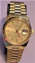 Vintage Mens Carlton Date Watch Quartz Made In Hong Kong Working? - $19.95