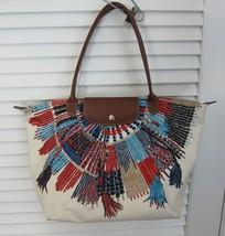 Longchamp Bag Collier Massai Native Neo Tribal Le Pliage Large Tote *RARE* - $174.24