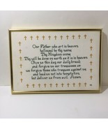 """The Lord's Pray Finished and Framed Cross Stitch 9.25"""" x 13.25"""" - $19.34"""
