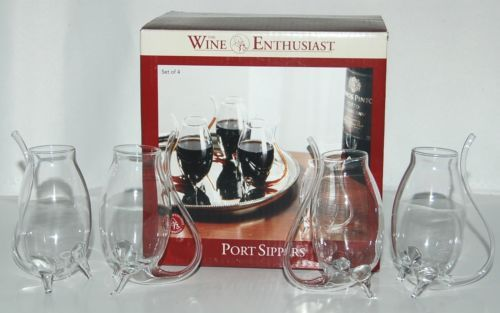 Wine Enthusiast 7400604 Crystal Port Sippers Set of 4 Clear
