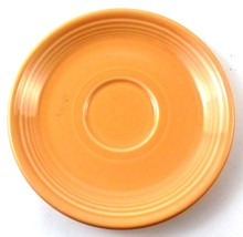 Fiestaware Homer Laughlin SAUCER Tea Cup Plate in CORAL Light Orange - $2.47